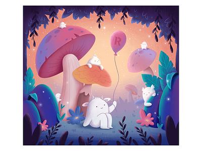 Magical World #1 character world magic digital art colorful cute procreate illustrator illustration artist art gift children puzzle macos ios productiviry readdle