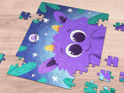 Magical World #2 cosmos character digital art procreate art illustrator illustration kids colorful cute monster world magic gift puzzle macos ios productivity readdle