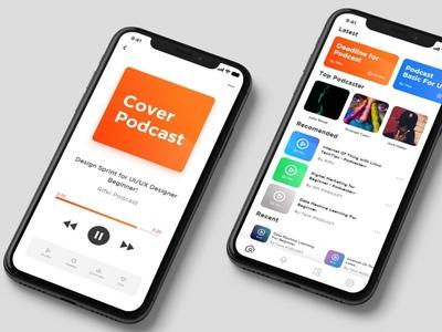 Podcast Apps Design apps uiux clean ui app design ux
