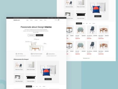 Furniture Landing Page web design web webdesign clean design ui