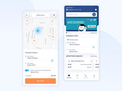 Redesign MRT-J Payment & Home design clean ui apps payment apps apps screen uiux ux app