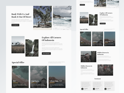 Travel Landing Pages website design web design web website ux uiux app ui design