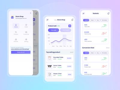 CMS Store Builder ui apps design apps payment clean apps screen apps ux uiux app design