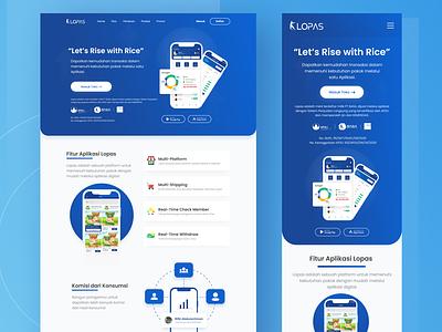 Lopas Landing Page Design Website apps ui web design website clean webdesign website design web ux uiux ui design