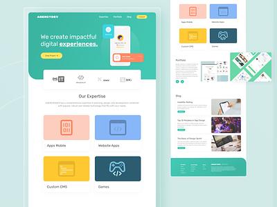 Agency Landing Page Profile Website agency website webdesign web design apps ui branding apps design agency web clean ux uiux design