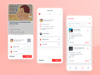Event Apps Ticket event apps design apps payment apps screen apps ux clean ui app uiux design