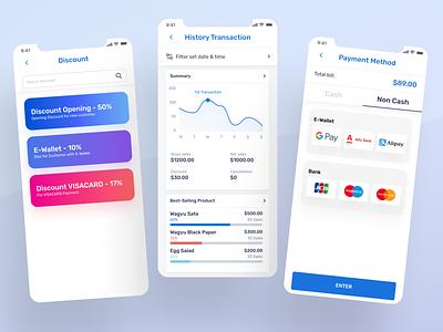 Point Of Sales - Apps Mobile apps ui apps design apps payment ux ui clean app point of sales pos design uiux