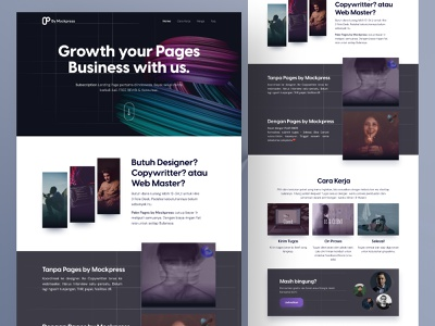Landing Page Agency - Pages by Mockpress open to work wordpress agency subsciptions ui ux clean design uiux elementor landing pages landing page graphic design