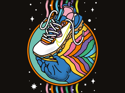 Nike sneakers/trainers - fashion editorial, sports, shoes, gym colorfulillustration hand shoes shoe trainers sneakers puma adidas nike sports branding sportswear fitness training gym basketball sports graphicdesigner editorialillustration freelanceillustrator illustration