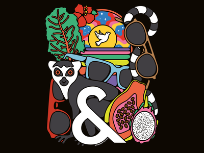 Ace & Tate illustration - glasses, optical, sunglasses editorialdesign poster design branding graphicdesigner editorialillustration freelanceillustrator illustration fruit lemur animals sunglasses optical glasses