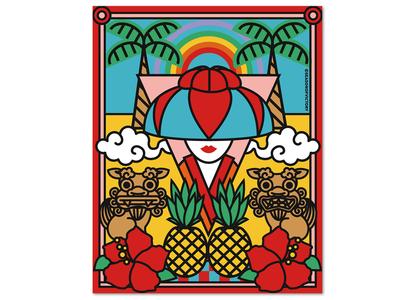 Okinawa Japan poster illustration