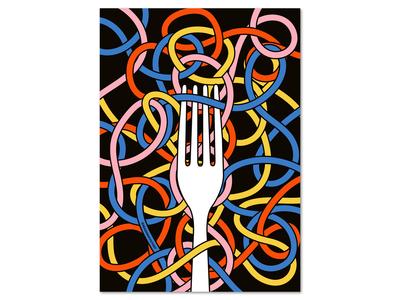 Restaurant editorial art  – pasta theme