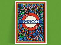 London art print illustrations – Stand Clear, Doors Closing