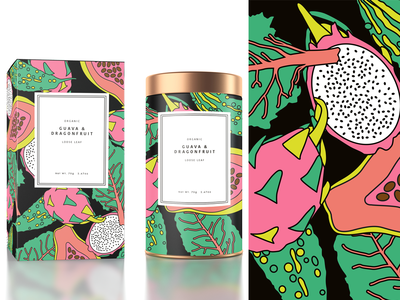 Fruit Illustration - luxury loose tea packaging design