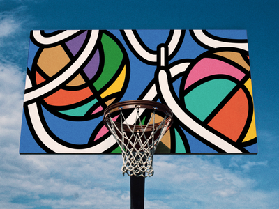 Basketball Court Graphics - sports, public spaces