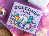Doughnut Time UK Christmas Collection - Packaging, window decals