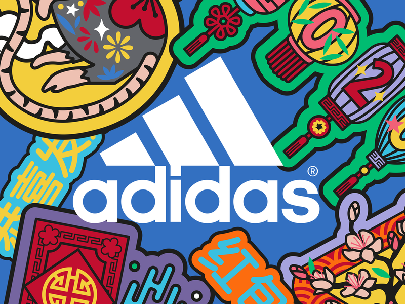 Adidas Chinese New Year 2020 - illustrated patch set