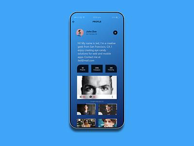 Profile page UI profile page ui design photoshop creative design interface page design adobe xd ui app design interface design