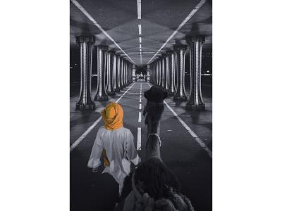 Sahara City - Aymane Jdidi photoshop unusual wallpaper digital photography design street road
