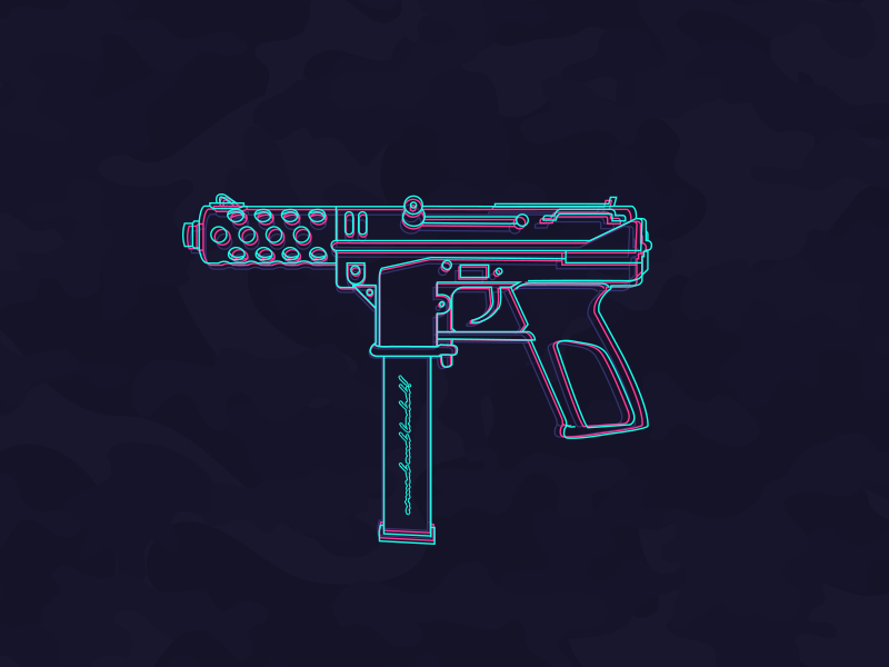 TEC-9 Neon Party! by Buse Turgay on Dribbble