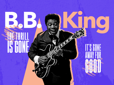 """Blues Wednesday #work B.B. King """"The Thrill Is Gone"""" thrillisgone bluesbbking card music wednesday"""