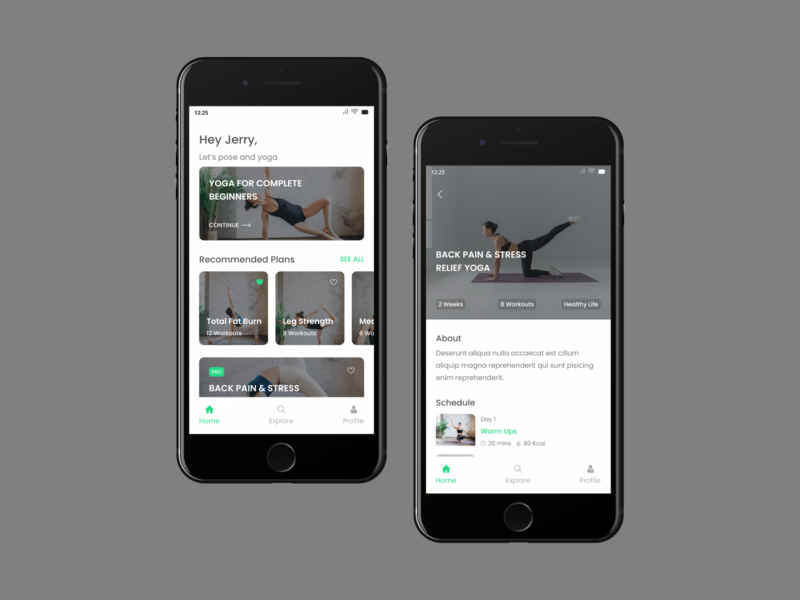 Yoga Work Out App exercise app work out app visual design interface design uiux design ux designer ux design website design app ui designer uidesign uiuxdesign applicaiton app design application landing page figma design ui uiux ui design