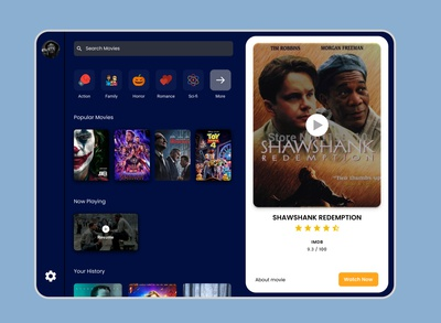 Movie App for Ipad - UI exploration