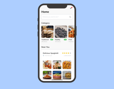 Food delivery app - UI exploration