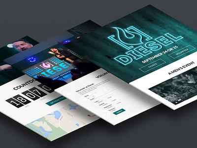 Diesel Website website conference web design web