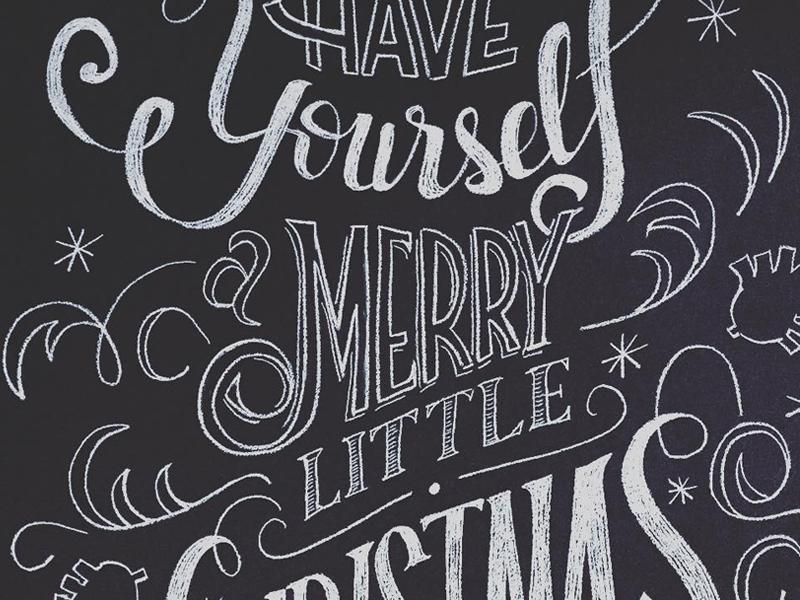 Christmas Chalkboard Art.Christmas Chalk Art By Cristian Garcia On Dribbble