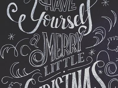 Christmas Chalk Art chalkboard chalk wall chalk art chalk christmas