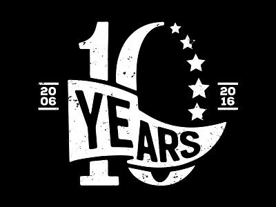 10 Years Dribbble typography lettering logo anniversary ten years