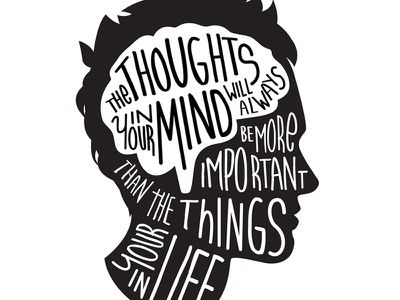 Thoughts typography mind thoughts brain