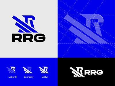 RRG logo concept griffyn logo security logo typography vector branding design
