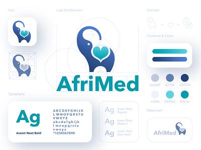 Afrimed branding doctor app app minimal healthcare app medical app icon typography logo design branding