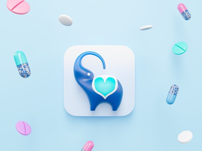 Afrimed branding icon 3d logo 3d art 3d illustration logo healthcare app doctor app app branding design