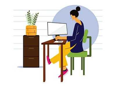 Lady Designer character design illustrator