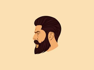 Illustration illustration beard man