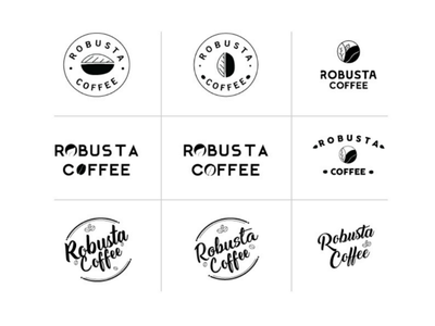 Robusta coffee logos logo designs robusta coffee