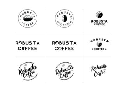 Robusta coffee logos