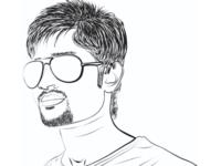 Portrait line art