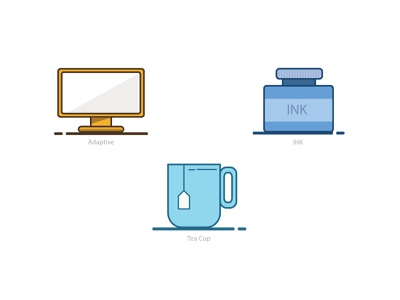 Icons Designs flat colors illustraion icons design