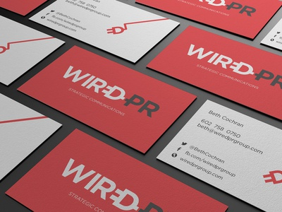 WiredPR Group Business Cards