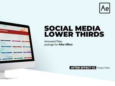20 Social Media Lower Thirds branding corporate corporate slideshow after effects project files after effect video templates lower thirds social media social media lower thirds after effects cc after effect cc 2018