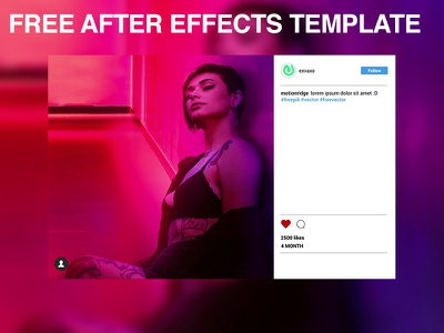 Free After Effects Template: Instagram Promo after effect video templates animation after effects cc promotion corporate promotional video template template instagram promo after effect cc 2018 after effects project files