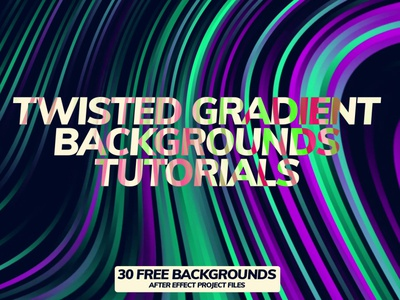 After Effects Tutorial: Twisted Gradient Backgrounds template design video template after effects cc promotional after effect video templates animation after effect cc 2018 corporate after effects project files