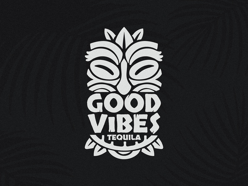 Good Vibes Tequila tropical hawaii liquor tequila good vibes tiki logo