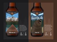Beer Labels camping canoe cabin lumberjack colorado beer bottle bear outdoors branding beer label craft beer beer
