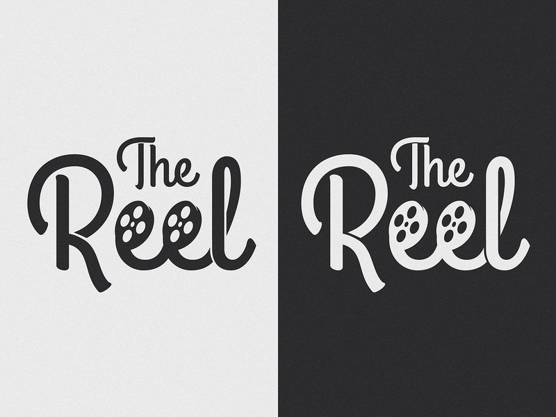 The Reel type movies film reel film logo