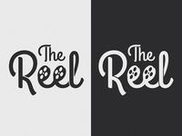 The Reel type movies film reel film logo